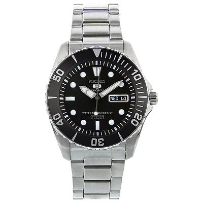 Seiko 5 Sports SNZF17 Automatic Black Dial Stainless Steel Men's Watch SNZF17K1