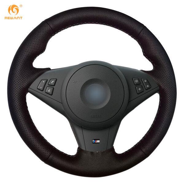 Black Leather Steering Wheel Cover for for BMW Z4 2003 2004 2005 2006 #BM25
