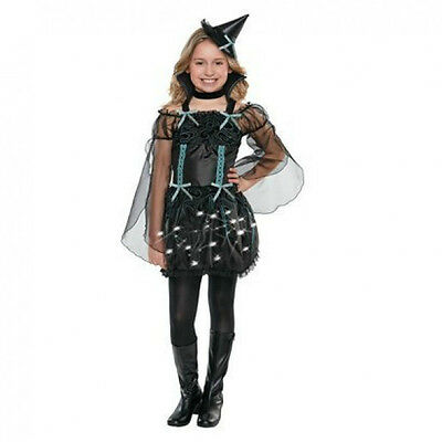 Light Up Witch Halloween Costume Small 4-6 - Girl Witch Costume