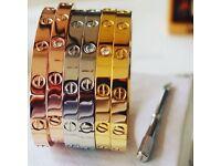 "Cartier Love Bracelets & ""Juste en clou"" nail bracelets. PLEASE SEE PICTURES AND READ AD."