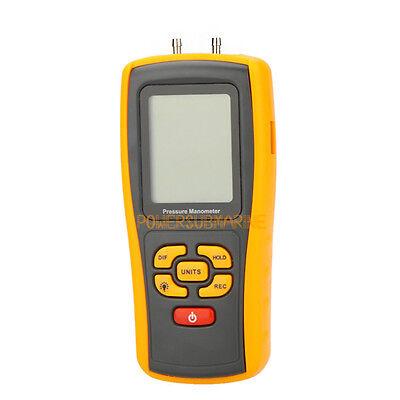 Digital Handheld Differential Pressure Meter Manometer 10kpa Usb Gm510 1.45psi