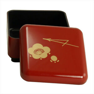 japanese 3 sq lacquer mini lunch rice fruit candy bento box ume made in japan. Black Bedroom Furniture Sets. Home Design Ideas
