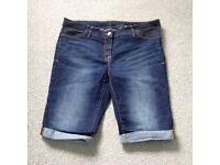 Next maternity denim shorts size 12