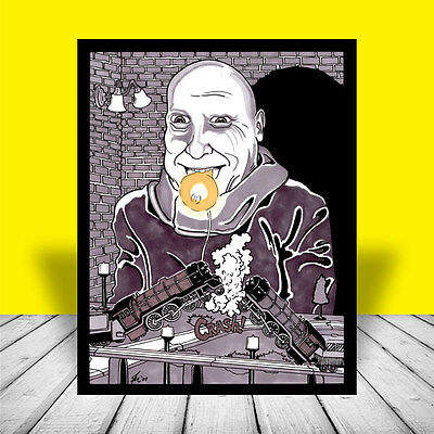 UNCLE FESTER The Addams Family POSTER ART artist signed Jackie Coogan TV show - Uncle Fester The Addams Family