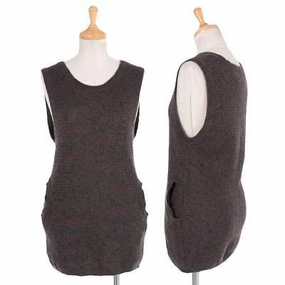LIMI feu Mohair blend mix knit vest Size S(K-30685)