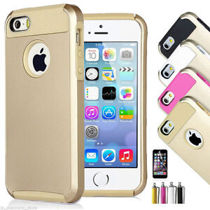 GOLD HYBRID RUGGED HEAVY DUTY CASE COVER FOR IPHONE 6 & 6S PLUS