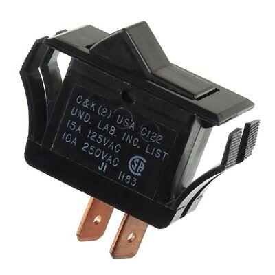 Ck Rocker Switch Part - C122-j1-2-s2-05 - Spst On-off Panel Mount 15a 125vac