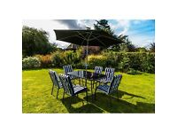 8 Piece Deluxe Garden Furniture Set with Padded Seats
