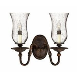"""2 """"Rockford"""" Double Light Wall Sconces by Hinkley Lighting"""
