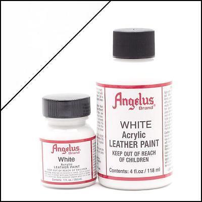 Angelus White acrylic leather paint 1 oz. bottle