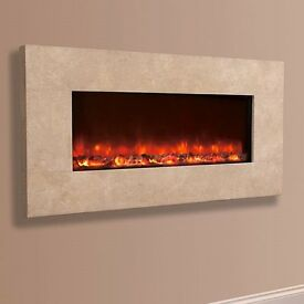Celsi Electric Wall fire with remote in royal bottichni brand new still in box