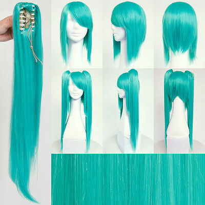 VOCALOID Hatsune Miku Long Teal Wig Hair for Japanese Anime Cosplay/Halloween - Miku Halloween Cosplay
