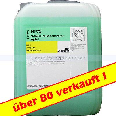 10L Flüssigseife Cremeseife Seifenspender Apfel 1,25€/L