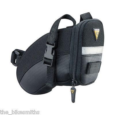 Topeak Small Aero Wedge TC2260B Bike Seat Bag Saddle Pack QR Straps Black ()