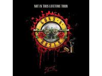 2 Guns n Roses Golden circle ticket London Stadium 16/06/17