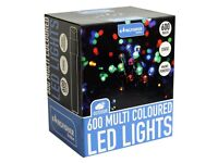 600 Indoor/Outdoor LED Static Multi Coloured Christmas Lights + FREE local delivery