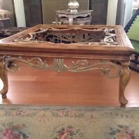 French style coffee table/side table glass tops