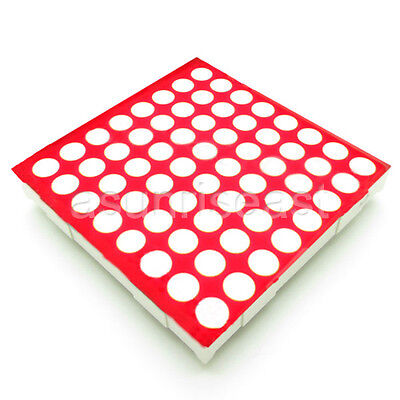 10 X Red 5mm Led Dot Matrix Display Module Common Anode 8x8 64 Point 16-pin