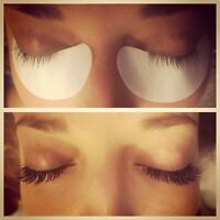Spray tanning and lash extensions