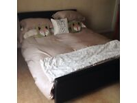 Kingsize sleigh bed 1 month old