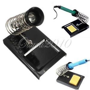 soldering iron gun stand support station with metal base diy electrical safety ebay. Black Bedroom Furniture Sets. Home Design Ideas
