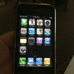 iPhone 3G rogers cracked screen