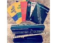 Trevor James Flute with books & music stand