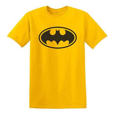 Classic Adult Comics (New Yellow classic Batman logo tee t-shirt DC Comics mens adult sizes small)