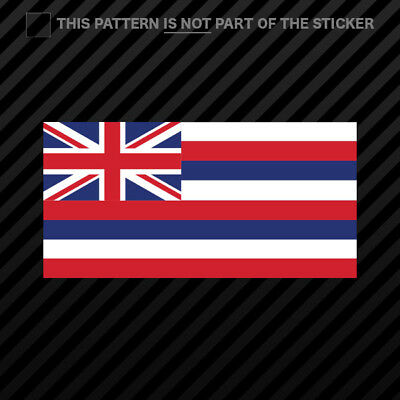 Hawaii Flag Sticker Self Adhesive Vinyl hawaiian state the aloha ()