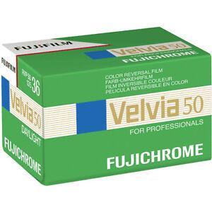 Fuji Velvia 50 RVP50 135-36 - 35mm Colour Slide Film Colour Transparency