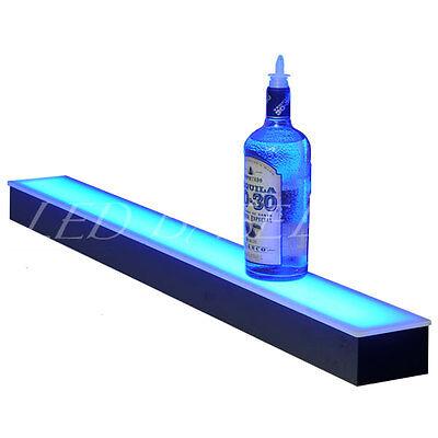 18 Lighted Liquor Bottle Shelf Great Fpr Home Bar Displays Color Changing
