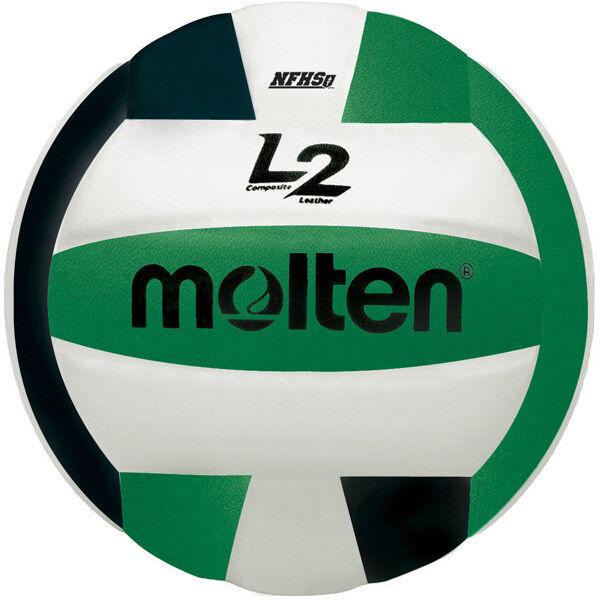 Molten L2 IVU-HS Volleyball - Black/White/Green