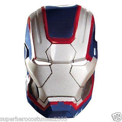 Iron Man 3 Iron Patriot Erwachsene Vacuform Maske Marvel Comics Brandneu 55702
