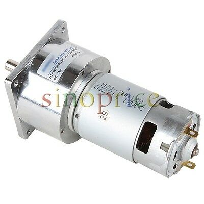 12v Dc 10 Rpm High Torque Gear Box Electric Motor 3500rmin 60mm Diameter