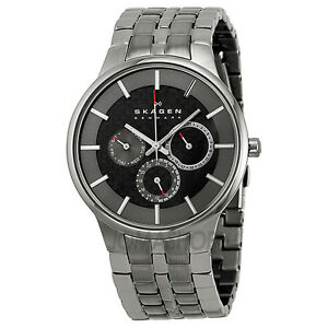 Skagen Steel Collection Carbon Fiber Dial Mens Watch 331XLSXMCR1