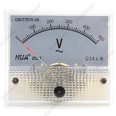 1 Ac500v Analog Panel Volt Voltage Meter Voltmeter Gauge 85l1 Ac0-500v