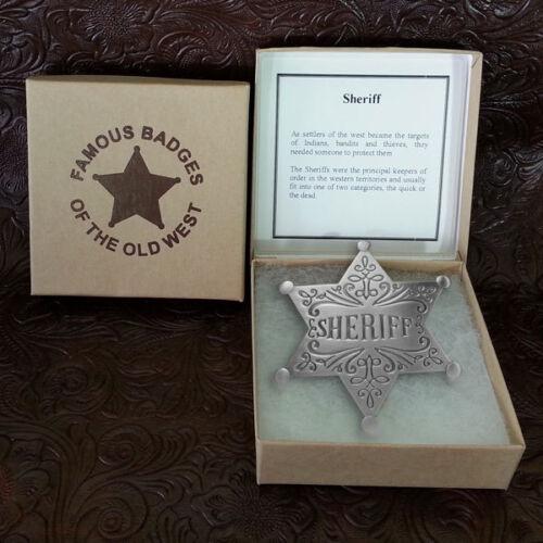 Sheriff Dress Badge-Silver--Replica