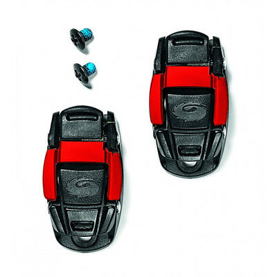 Sidi Caliper Buckle - Sidi Cycling Shoes Replacement Caliper Buckle : BLACK/RED One Pair