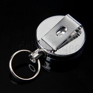 Heavy Duty Retractable Reel Badge ID Holder Belf Clip Nurse Clip Name Card Key
