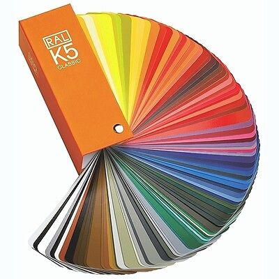 Ral  K5 Classic Farbfächer Farbkarte 213 Farbtöne Farbfinder in glänzend