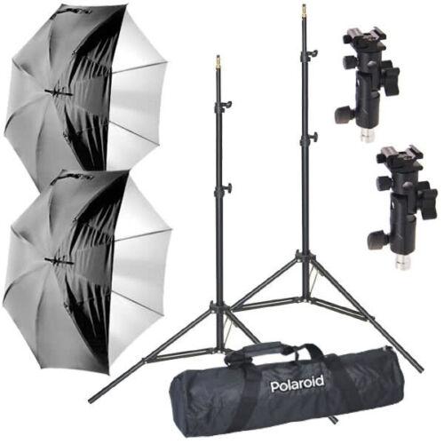 Pro Studio Digital Polaroid Flash Umbrella Mount Kit-Stands, Umbrellas, Adapters
