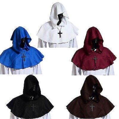 Vintage Hooded Cowl Unisex Hood Medieval Monk Pagan Hat Fancy Dress Cosplay - Hooded Vintage Hat