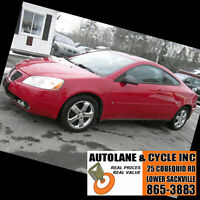 2006 Pontiac G6 GT Coupe THIS IS A SHARP Clean Car Only  $5995