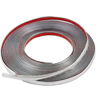 (10m Chrome 3M Adhesive Car Door Edge Moulding Trim Guard Strip Protect Fabulous)
