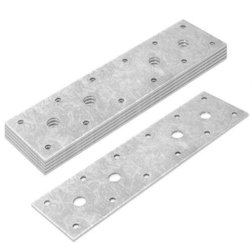 """6Pcs 8⅝"""" Flat Tie Plate Repair Mending Plate Bracket Galvanized Steel Connector"""