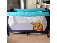 Winnie the poo travel cot