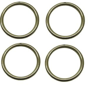 8mm x 75mm steel round o rings welded zinc plated 4 pack dk34 ebay. Black Bedroom Furniture Sets. Home Design Ideas