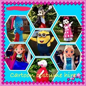 Mascot costume hire perfect for any event child's birthday party weddings christenings