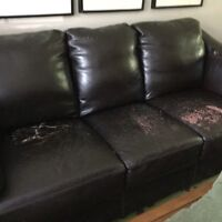 Free leather sofa and love seat