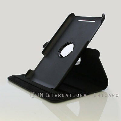 Google Nexus 7 inch 360° Rotating Stand Leather Case Smart Cover Black ()